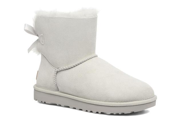 UGG - W Mini Bailey Bow II - Stiefeletten & Boots für Damen / grau