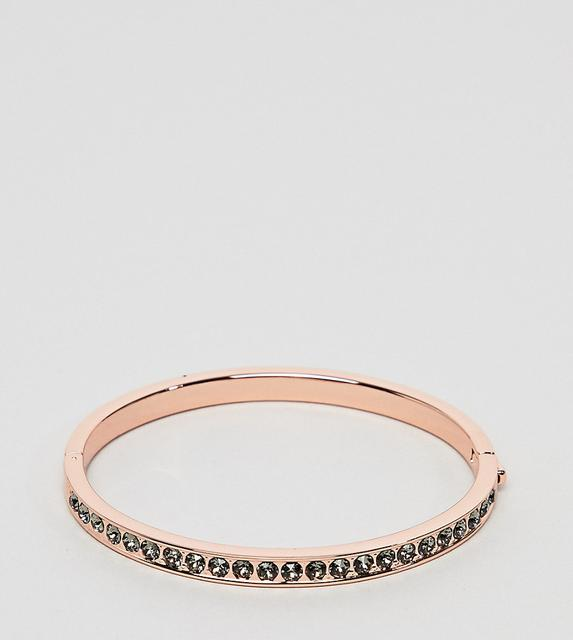 TED BAKER - clemara rose gold crystal hinge bangle