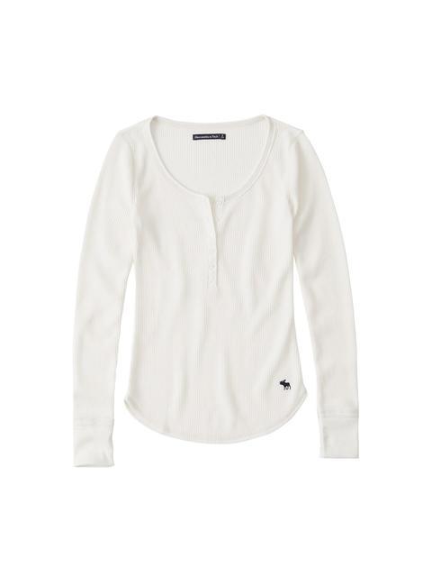 Abercrombie & Fitch - Shirt ´LS SLIM RIB HENLEY´