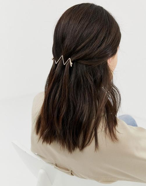 ASOS DESIGN - Goldene Haarspange mit Verzierung - Gold