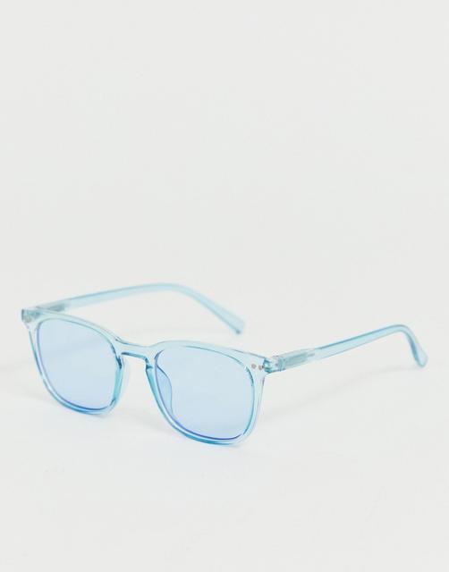 AJ Morgan - square sunglasses in blue
