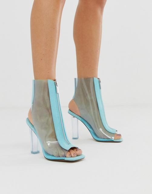 ASOS DESIGN - Energise clear heeled boots