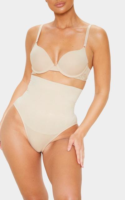 PrettyLittleThing - Nude Seamless High Waist Control Shapewear Brief, Pink