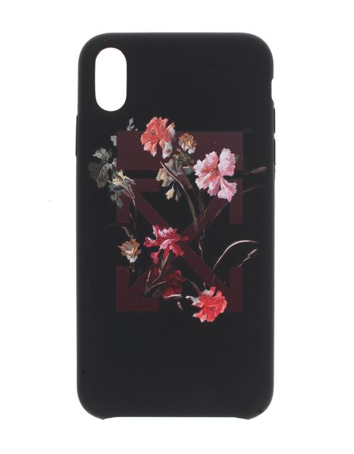 OFF-WHITE C/O VIRGIL ABLOH - iPhone X/XS Max Flowers  Black
