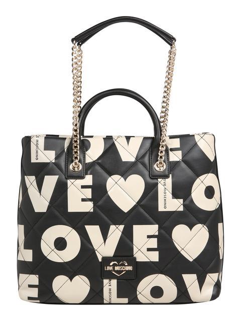 Love Moschino - Handtasche ´BORSA MATT NAPPA PU MIX NERO´