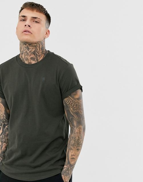 G-Star - Shelo – Graues T-Shirt in legerer Passform