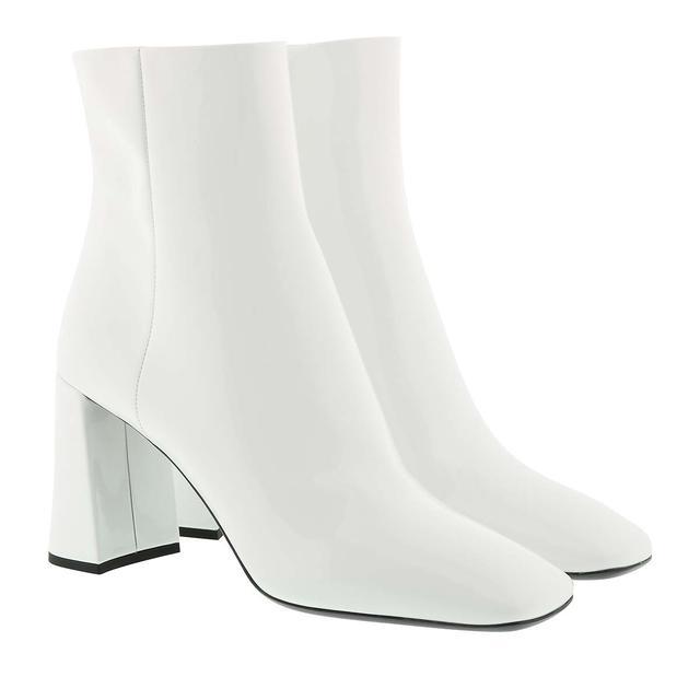 Prada - Boots - Booties Patent Leather White - in weiß - für Damen