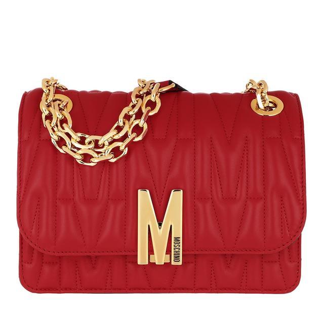 Moschino - Umhängetasche - Leather Shoulder Bag Red - in rot - für Damen