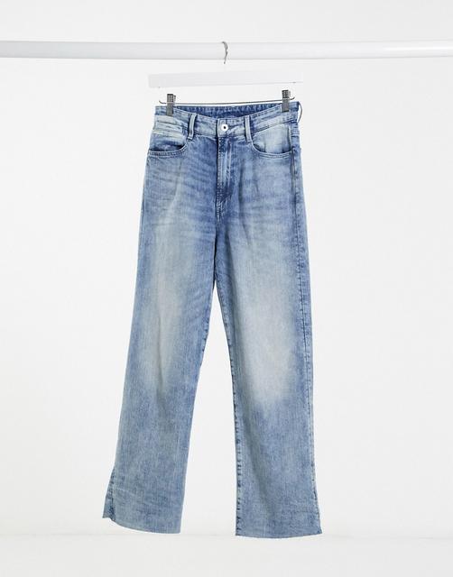 G-Star - Tedie – Gerade geschnittene Jeans mit extrem hohem Bund in mittelblauer Waschung