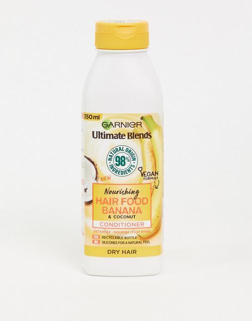 Garnier - Ultimate Blends Nourishing Hair Food – Banana– Conditionerfür trockenes Haar,350ml-Keine Farbe