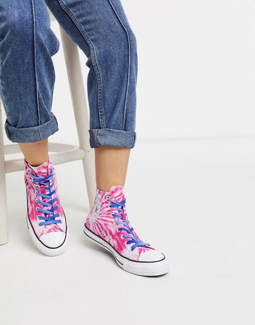 CONVERSE - Chuck Taylor All Star – Knöchelhohe Sneaker in rosa Batikoptik