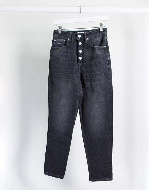 Tommy Jeans - Mom-Jeans in Schwarz
