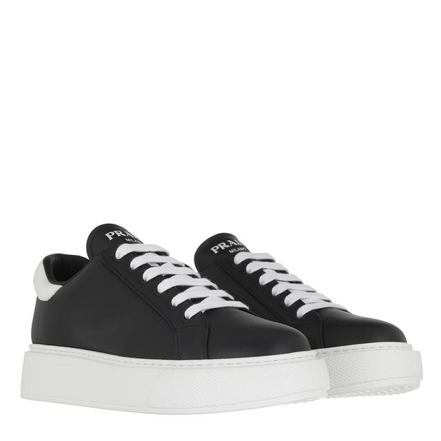 Prada - Sneakers - Sneakers Leather Nero/Bianco - in schwarz - für Damen