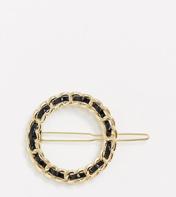 DesignB London - Exclusive – Haarspange mit geflochtenem Design-Silber