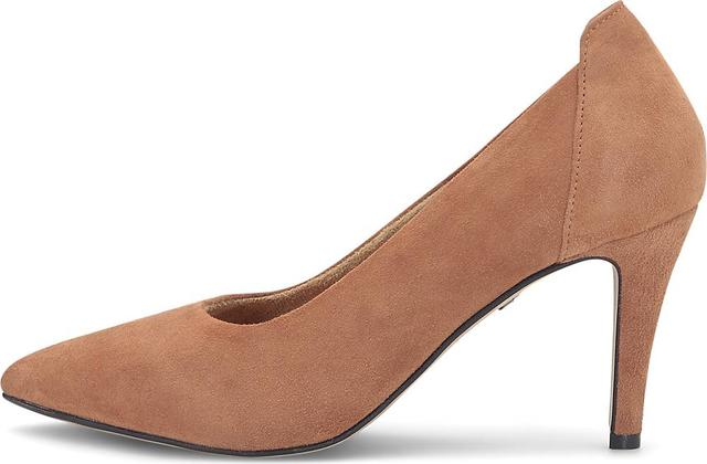 Tamaris - Velours-Pumps in beige, Pumps für Damen