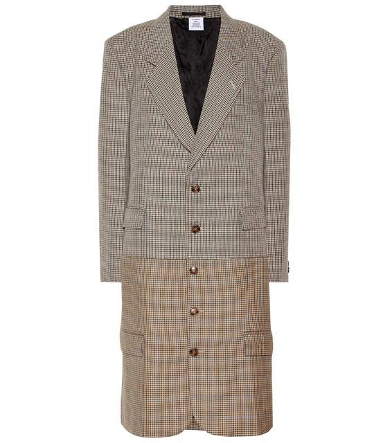 Vetements - Karierter Mantel aus Wolle