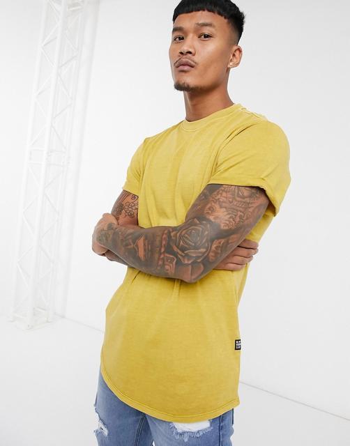G-Star - Lash – T-Shirt in Senfgelb