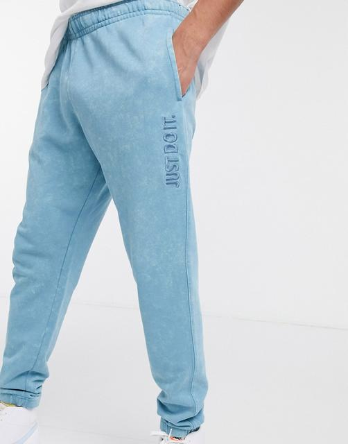 Nike - Just Do It – Jogginghose in verwaschenem Blau