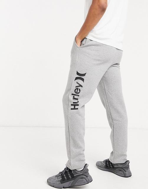 hurley - OAO – Fleece-Jogginghose in Grau