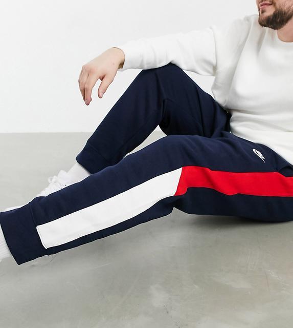 Nike - Plus Club – Jogginghose mit Farbblockdesign und Bündchen, in Marine-Navy