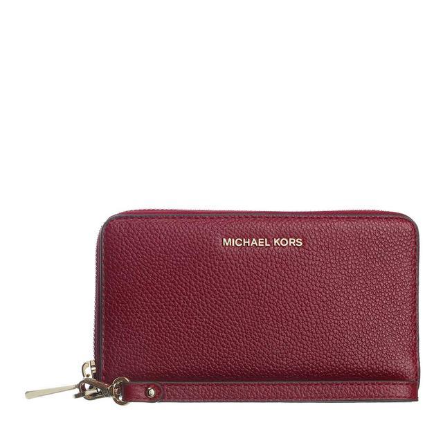 MICHAEL KORS - Portemonnaie - Large Flat Phone Case Dark Berry - in rot - für Damen