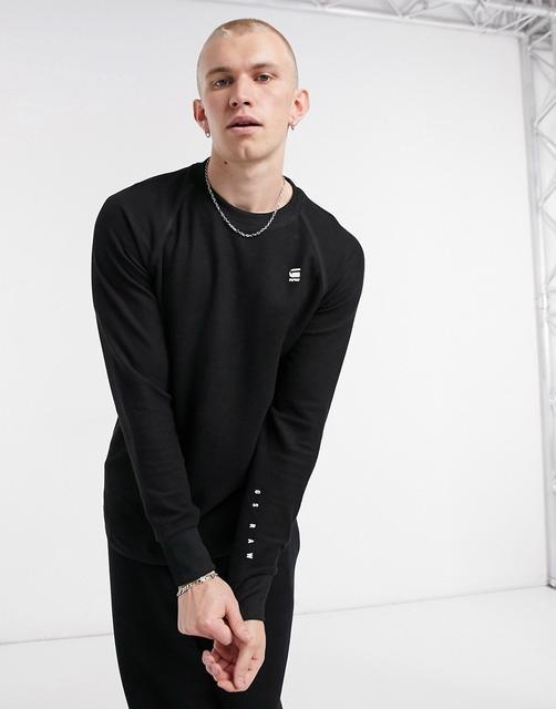 G-Star - Jirgi– Schwarzes Sweatshirt mit Logoprint