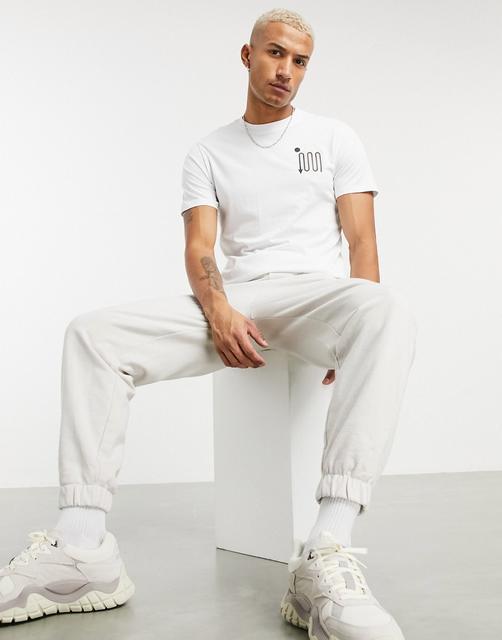 Celio - T-Shirt mit Print auf der Brust in Weiß