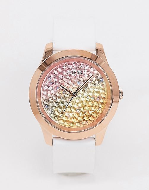 guess - Armbanduhr mit buntem Zifferblatt-Weiß