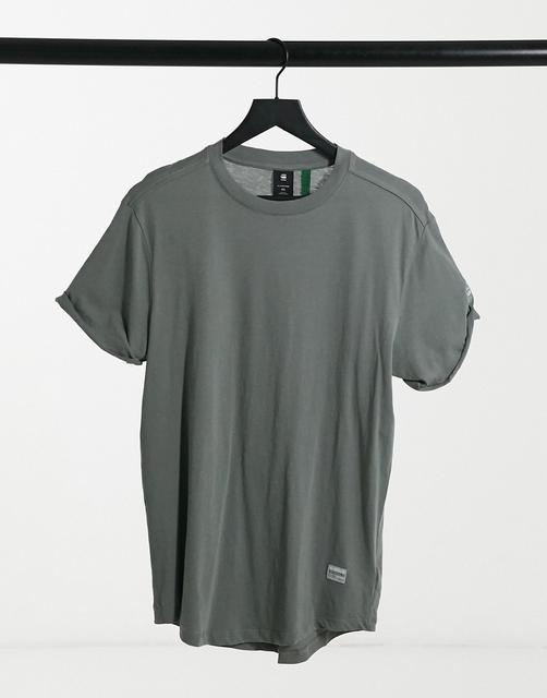 G-Star - Legeres T-Shirt in Khaki-Grün