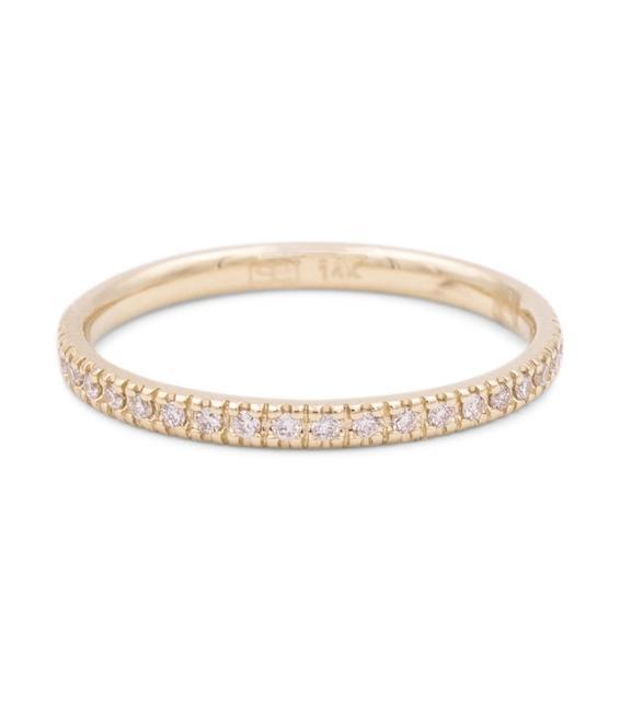 Sydney Evan - Ring Eternity aus 14kt Gelbgold mit Diamanten