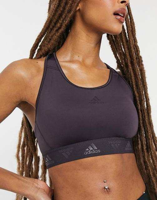 adidas Performance - adidas Training – Glamouröser BH in Lila-Violett