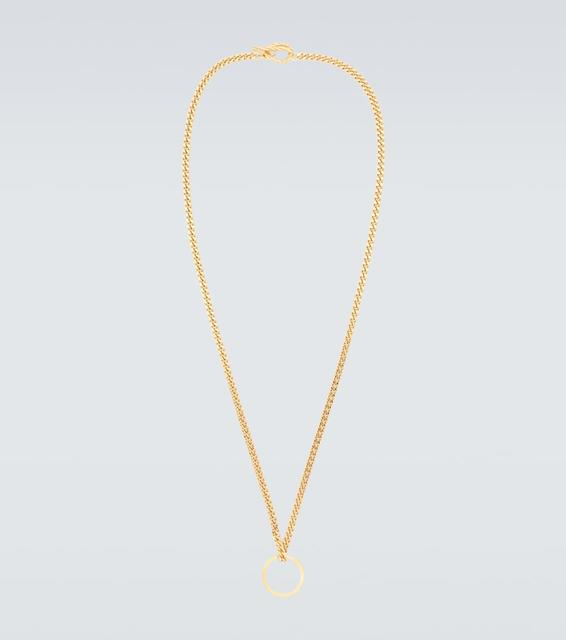 Elhanati - Vergoldete Halskette X Ring Charm