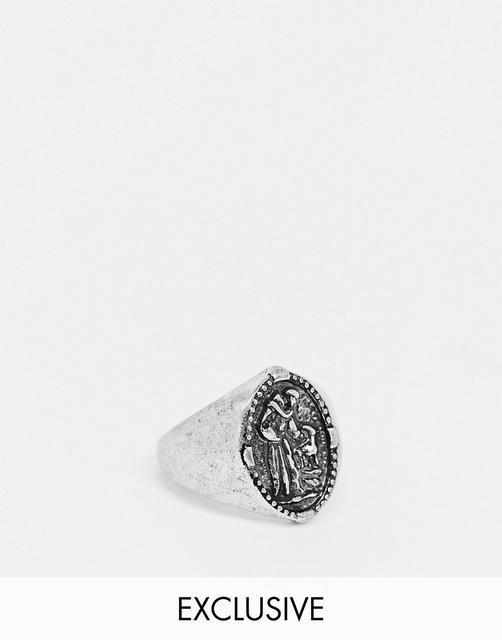 Reclaimed Vintage - Inspired – Silberfarbener Ring