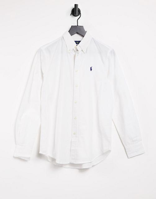 Polo Ralph Lauren - Legeres, langärmliges Oxford-Hemd in Weiß