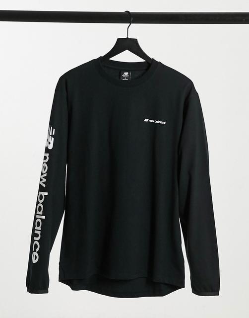 new balance - Langärmliges Shirt in Schwarz