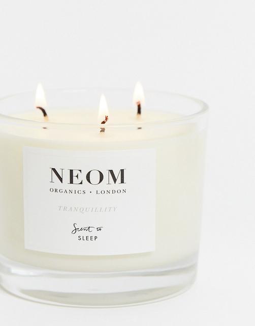 Neom - Perfect Night's Sleep - Duftkerze mit 3 Dochten und Lavendel, Jasmin und Basilikum-Keine Farbe