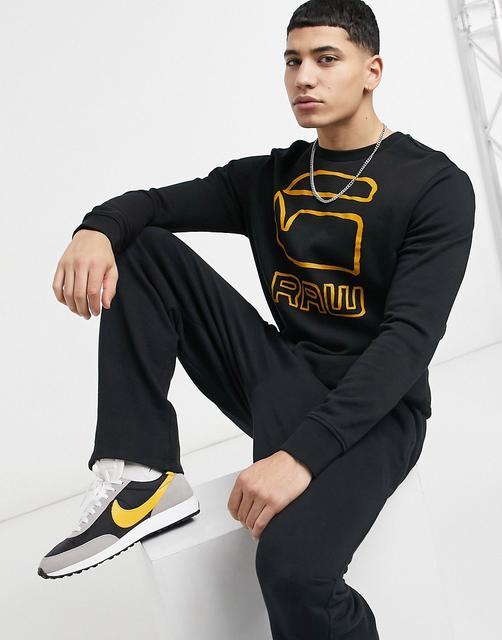 G-Star - Sweatshirt mit Grafik und Rundhalsausschnitt-Schwarz